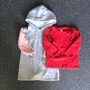 Other - Lot of 2 Toddler Girl Sweatshirts 2T